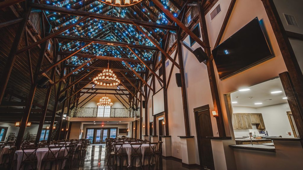 Palace Event Center barn ceiling interior view